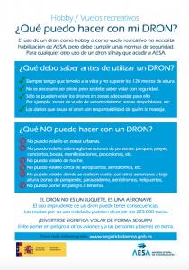 RECOMENDACIONES AESA USO RECREATIVO DE DRONES