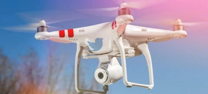 Drones manejados con Twitter