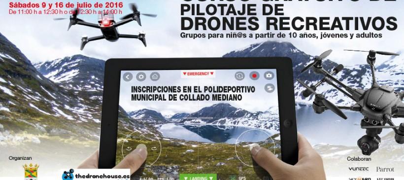 CURSO GRATUITO DE PILOTAJE DE DRONES RECREATIVOS a partir de 10 años