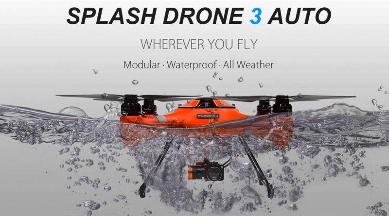 Al agua con Splash Drone 3 de Swellpro